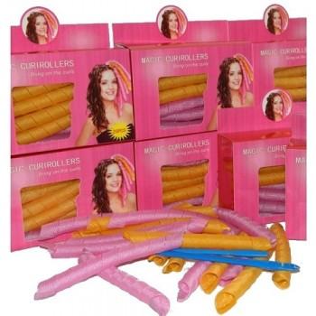 Magic Curirollers для длинных волос 50 см 18 шт Волшебные спиральные бигуди