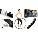 Massaging Hoop Exerciser Professional Bradex Массажный обруч Хула Хуп с магнитами Черный