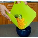 Гибкие разделочные доски для различных видов продуктов с ярлыками 4 шт. в комплекте