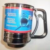 Механическое сито, кружка-сито для просеивания муки 300 грамм