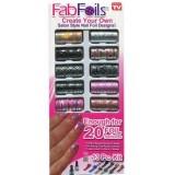 Fab Foils Набор для маникюра переводной фольгой разрисовки ногтей