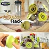 Pop Up Spice Rack Органайзер для специй подставка для приправ с силиконовыми крышечками