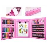 Детский набор для рисования 208 предметов в удобном кейсе с ручкой Мольберт colorMIX