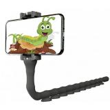 Гибкий держатель для телефона с присосками Cute Worm Lazy Holder ЧЕРНЫЙ (200)