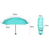 Мини СИНИЙ зонтик в футляре (80)