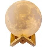 Настольный светильник Луна Magic 3D Moon Light с пультом БЕЛЫЙ (32)