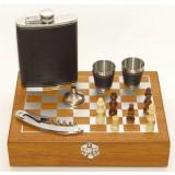 Мужской подарочный набор с флягой и шахматами (20)