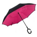 Зонт наоборот umbrella РОЗОВЫЙ № F08-C (50)