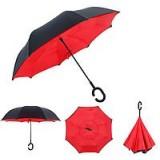 Зонт наоборот umbrella КРАСНЫЙ № F08-F (50)