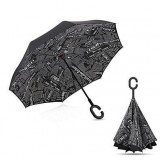 Зонт наоборот umbrella ГАЗЕТА ЧЕРНАЯ (50)
