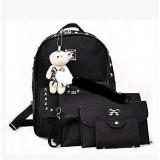 Женская сумка 4 в 1 ЧЕРНАЯ Teddy Back Pack Bag (50)