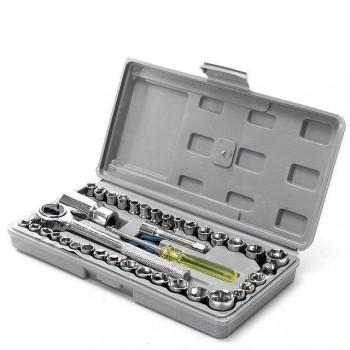 40 pcs Combination Socket Wrench Set Набор инструментов AIWA (40 предмет) в кейсе