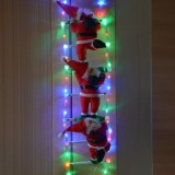 Дед Мороз на светящейся LED лестнице 3 шт по 35 см