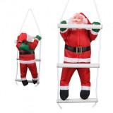Дед Мороз на лестнице 35 см
