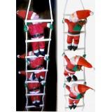 Дед Мороз 3 шт на лестнице по 35 см
