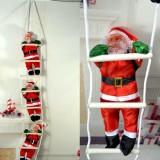 Дед Мороз 3 шт на лестнице по 25 см