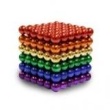 Конструктор магнитный Нео куб Neo Cube цветной 5мм 216 шариков