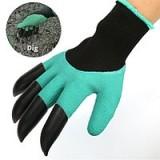 Садовые перчатки с когтями Garden Gloves 2 в 1
