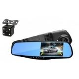 """Зеркало видеорегистратор 1433 (камера - FHD, монитор - 4,3"""") 2 камеры"""