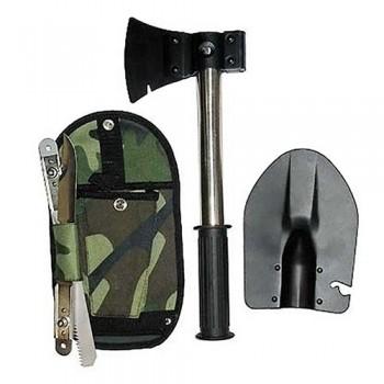 Походный Туристический набор 4 в 1 (лопата, топор, пила, нож + чехол)
